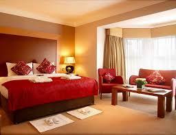 Master Bedroom Colors Bedroom Brown Wooden Nightstand Cream Polyster Core Mattress