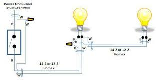 one switch two lights wiring diagram