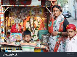 Seeking Hyderabad Hyderabadindiamarch 14indian Go Around Cart Stock Photo