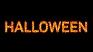 halloween animation pictures halloween burning word on fire hd animation with particles