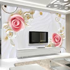 popular living flower wall murals buy cheap living flower wall high quality custom wall mural 3d stereoscopic embossed flower living room sofa tv background wall painting