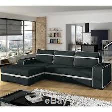 Corner Sofa Bed With Storage by Corner Sofa Bed Finn With Storage Container Fabric Faux Leather New