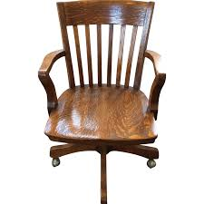 Antique Swivel Office Chair by Antique Tiger Oak Office Bank Swivel Chair Chairish