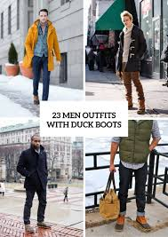 23 men with duck boots for this winter styleoholic