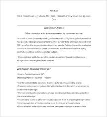 Resume Outline Examples by Event Planner Resume Template U2013 11 Free Samples Examples Format