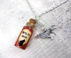 glass bottle necklace images Wolfsbane bottle necklace werewolf charm necklace real jpg