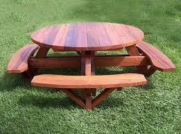 Folding Wood Picnic Table Plans by Best 25 Round Picnic Table Ideas On Pinterest Picnic Tables