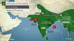 India Weather Map by India Monsoon Lows To Heighten Risk Of Flooding Into Next Week