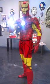 paint man superhero body painting that looks amazing bizarbin com