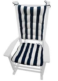 sea shore seahorse navy blue porch rocker cushions indoor