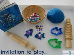rainbow fish play dough activity learning 4 kids