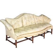 Camel Back Settee Mahogany Hepplewhite Camelback Sofa With Serpentine Back And Seat