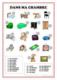 vocabulaire de la chambre 25 gratuit fle chambre fiches pédagogiques