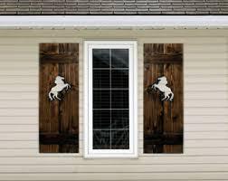 Interior Shutter Doors Western Wall Decor Wooden Stars Rustic Shutters Wood