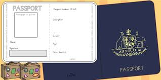 passport template minimally designed the simple printable double
