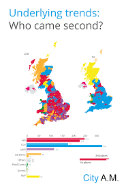 Uk Election Map by General Election 2015 Results Here U0027s Who Came Second In Every