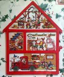 bucilla counted cross stitch kit santa s workshop house hutch by