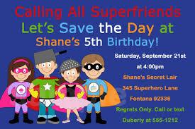 superhero party invitations u2013 gangcraft net