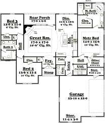country style house plan 3 beds 2 baths 1900 sq ft 430 56 showy