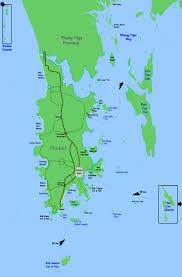 island on map phuket map of islands around phuket