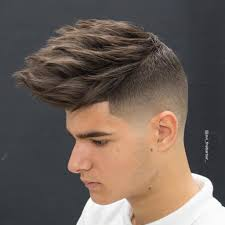 mens haircuts short on sides long on top along with mens haircut