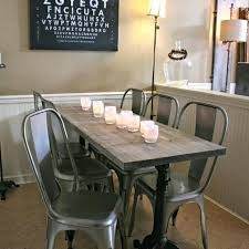 dining table with metal chairs dining room cafe style dining room chair industrial table cafe