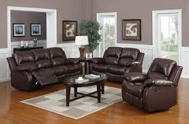 Power Reclining Sofa And Loveseat Sets Brown Leather Sofa Set 2 Pc Traditional Loveseat