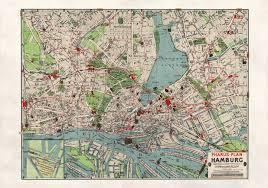 Hamburg Germany Map by Hamburg In 1911 Full Size