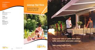Automated Awnings Awnings That Think Brochure Somfy Pdf Catalogues