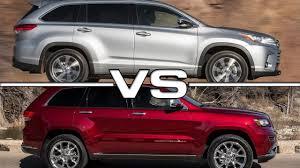 jeep pathfinder 2015 2017 toyota highlander vs 2016 jeep grand cherokee youtube