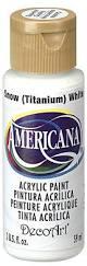 amazon com decoart americana acrylic paint 2 ounce titanium white
