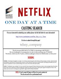 Does Netflix Seeking One Day At A Time Netflix Reboot Holding Auditions For
