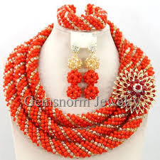 african wedding bead necklace images Exclusive coral nigerian wedding african jewelry sets 18k gold jpg