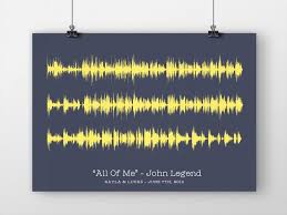 paper anniversary gifts soundwave print song your favorite song lyrics