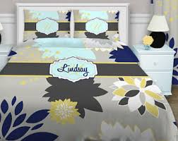 Dahlia 5 Piece Comforter And by Yellow Bedding Etsy