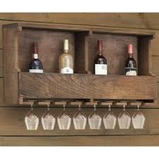 furniture of america walnut modern mounting wine rack free