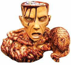 candy dish prop halloween zombie brain bowl party supplies dead