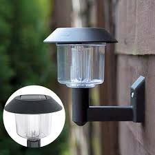 solar bright lights outdoor bright led solar powered fence gate wall l post light outdoor
