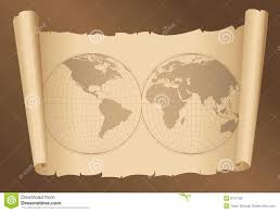 map paper map on paper stock photography image 6737782