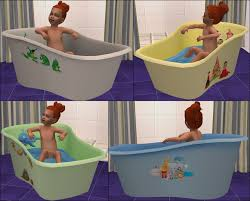 mod the sims rub a dub toddler tub the sims 2 pinterest