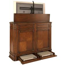 crystal pointe xl brown tv lift cabinet tvliftcabinet com