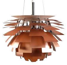 Artichoke Chandelier Ph Artichoke Pendant ø 48 Cm Copper By Louis Poulsen