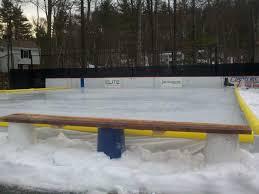 backyard rink bench how to build backyard rink hockey u2013 design