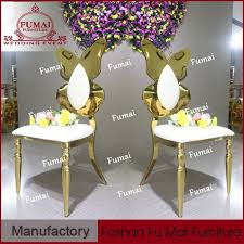 wedding chair stainless steel chair