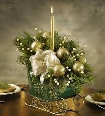 sleigh arrangement centerpiece and decorating ideas