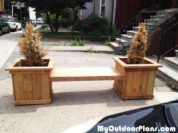 Garden Bench With Planters Outdoor Planter Bench Myoutdoorplans Free Woodworking Plans