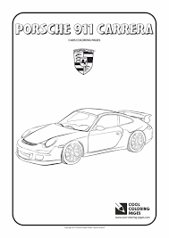 porsche 911 carrera coloring page cool coloring pages