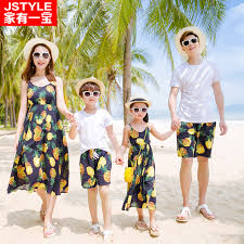 aliexpress com buy famliy beach clothing pineapple matching
