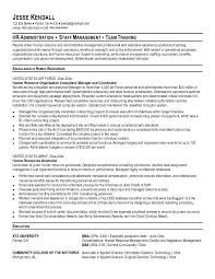 hr administration sample resume examples of human resource projects writing resume sample inside