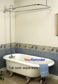 Shower Faucet For Clawfoot Tub Chrome Clawfoot Tub Shower Diverter Faucet U0026 Rod Set Ebay